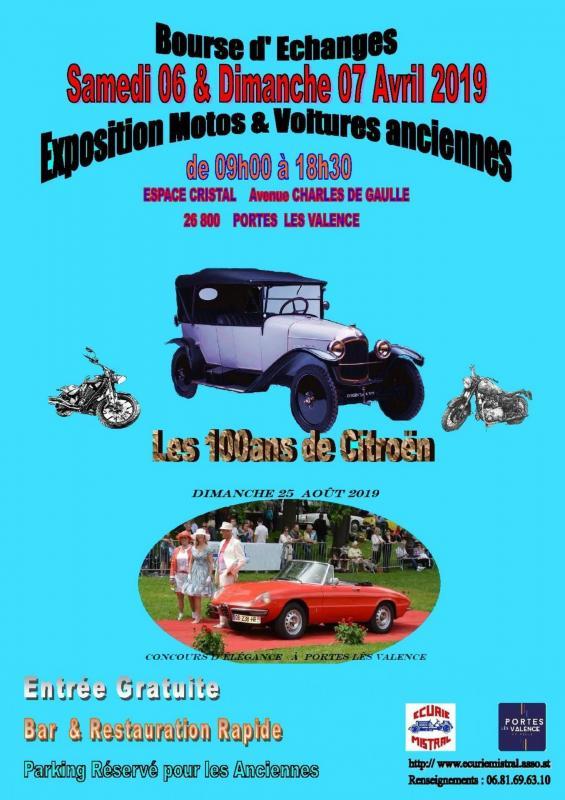 Affiche format a3 les 100ans de citroen expo 2019 25 aout
